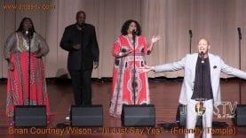 "James Ross @ Brian Courtney Wilson – ""I'll Just Say Yes"" – www.Jross-tv.com (St. Louis)"