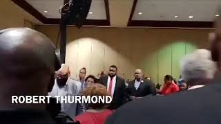 Dorinda-Clark-Cole-lays-Hands-on-her-sister-Twinkie-Clark-Terrell-at-AIM-2019-in-Tampa-Florida-attachment