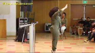 FIRST-LADY-ERICA-CAMPBELL-ON-THE-STEPS-TO-WORSHIP-THE-LORD-attachment